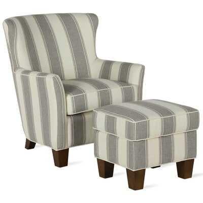 Hayfield Armchair Chair and Ottoman - Wayfair