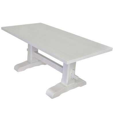 Pure White Trestle Table - Wayfair