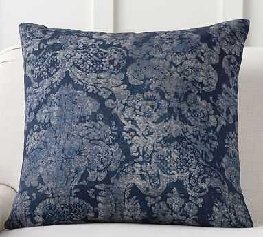 "Lucci Printed Pillow, 24"", Blue Multi - Pottery Barn"