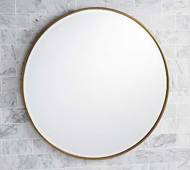 """Vintage Round Mirror, 42"""", Brass - Pottery Barn"""