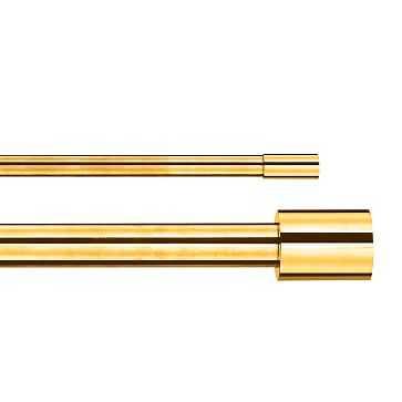 "Oversized Metal Double Rod, 44""-108"", Antique Brass - West Elm"