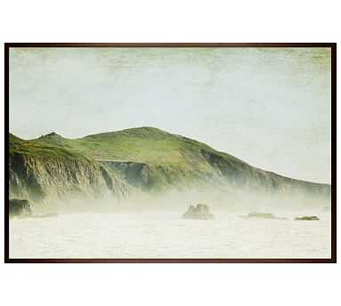 """Green and Mist Framed Print by Lupen Grainne, 42 x 28"""", Wood Gallery Frame, Espresso, No Mat - Pottery Barn"""