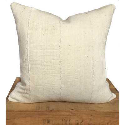 Plain African Mud Cloth Pillow Cover - Wayfair