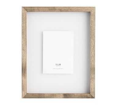 "Floating Wood Gallery Frame, Graywash - 11"" x 14"" - Pottery Barn"