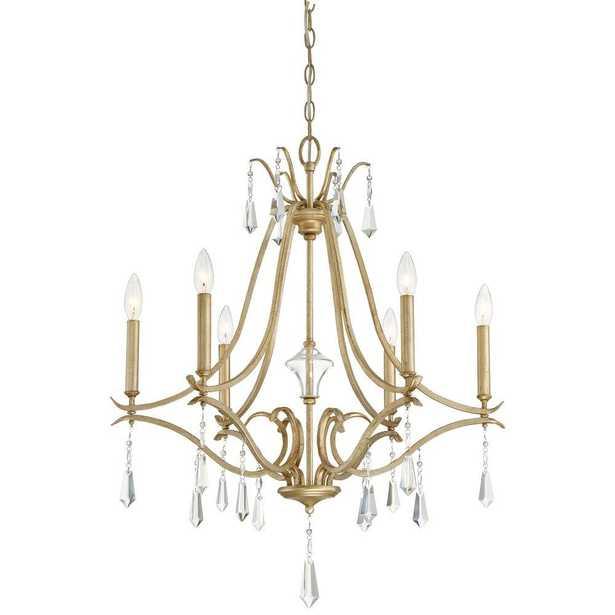 Minka Lavery Laurel Estate 6-Light Brio Gold Chandelier - Home Depot