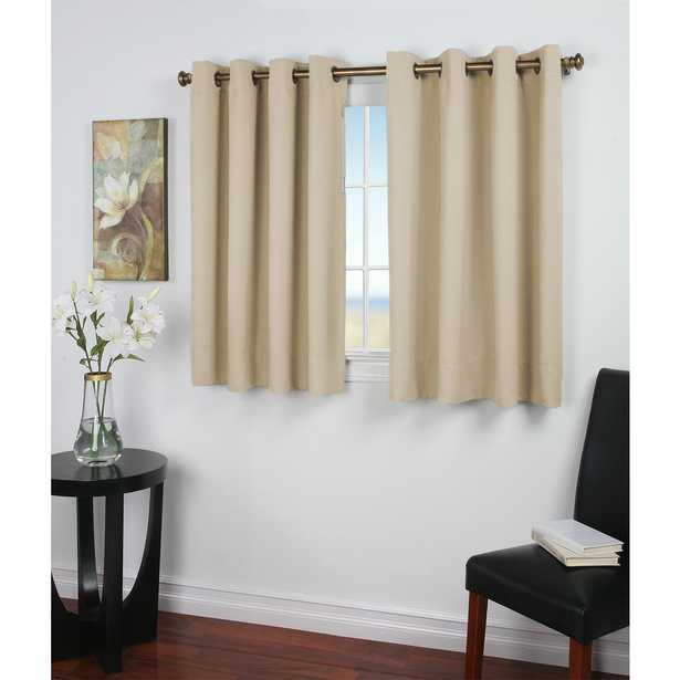 Ricardo Trading Ultimate Blackout 56 in. W x 45 in. L Polyester Short Length Blackout Panel in Ivory - Home Depot