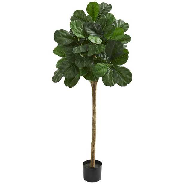 """Nearly Natural Indoor 60""""H. Fiddle Leaf Fig Artificial Tree - Home Depot"""