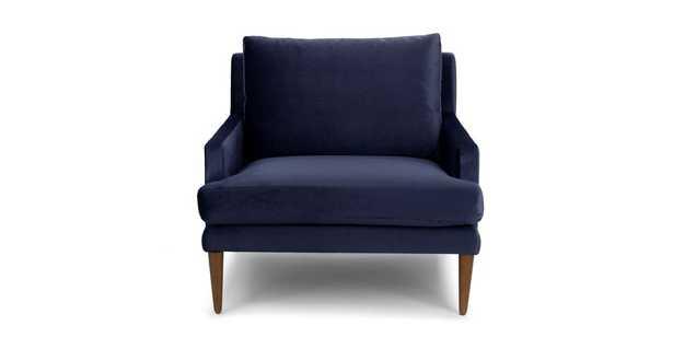 Luxu Nightshade Blue Chair - Article