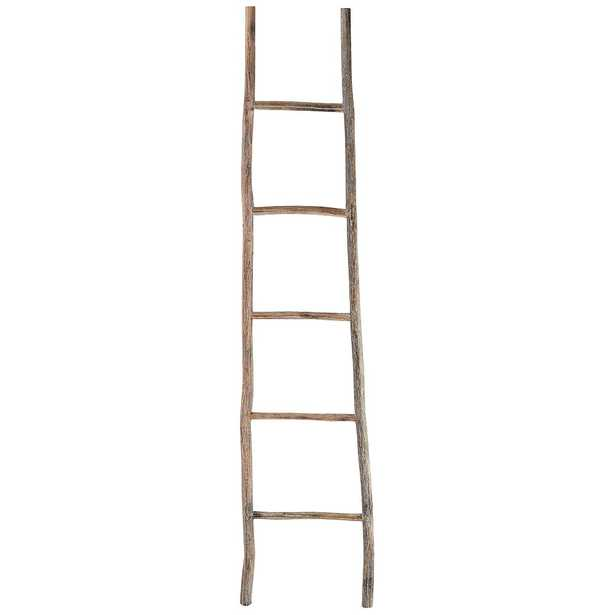 Branch One Large White Washed Wood Ladder - Style # 34Y56 - Lamps Plus
