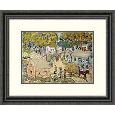 'A New England Village' by Maurice Brazil Prendergast Framed Painting Print - Wayfair