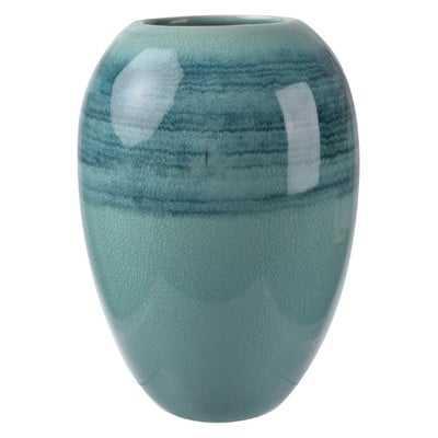 Blue Ceramic Vase (Set of 2) - Wayfair
