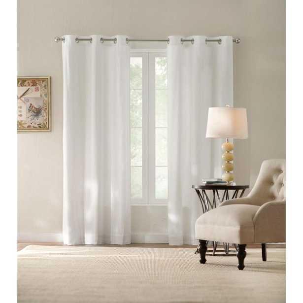 Home Decorators Collection White Cotton Duck Grommet Curtain - Home Depot