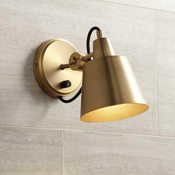 "Possini Euro Capetown 8"" High Warm Brass Swivel Wall Sconce - Style # 24K78 - Lamps Plus"