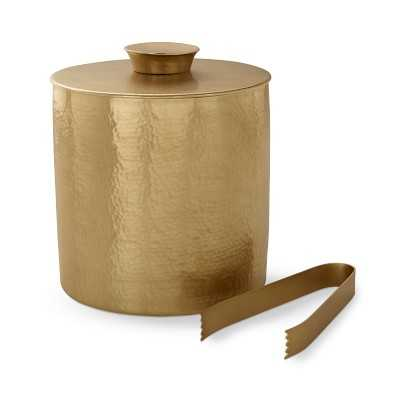 Antique Brass Ice Bucket with Tongs - Williams Sonoma