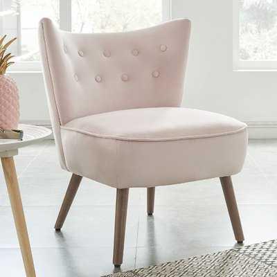 Fairman Velvet Slipper Chair - Wayfair