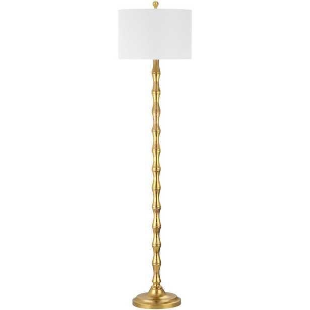 Safavieh Aurelia 63.5 in. Antique Gold Floor Lamp with White Shade - Home Depot