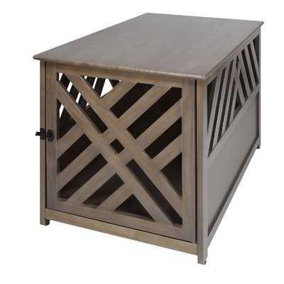 Menzel Modern Lattice Pet Crate End Table - Wayfair