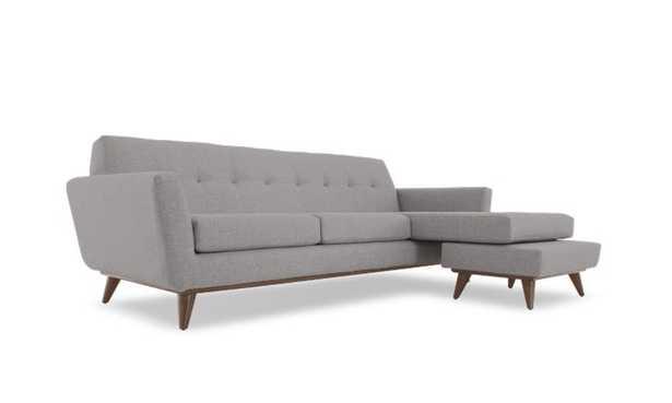 Gray Hughes Mid Century Modern Reversible Sectional - Taylor Felt Grey - Coffee Bean - Cushion not included - Joybird
