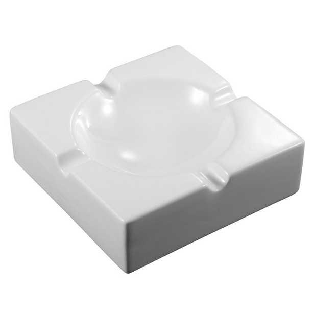 Lokken White Ceramic Ashtray - Home Depot