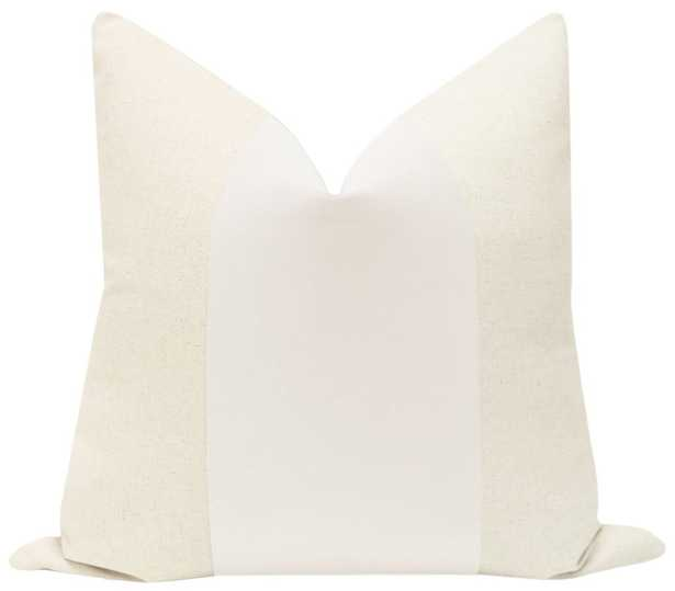 "PANEL :: Classic Velvet // Alabaster - 20"" X 20"" - Little Design Company"