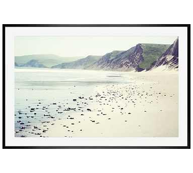 """Pebbly Beach Framed Print by Lupen Grainne, 28x42"""", Wood Gallery Frame, Black, Mat - Pottery Barn"""