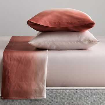 TENCEL(TM) Ombre Sheet Set, Twin, Pink Grapefruit - West Elm