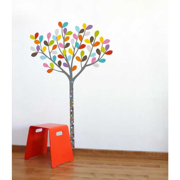 """Adzif (39 in x 58 in) Multi-Color """"Colours in the Woods"""" Kids Wall Decal, Multicolour - Home Depot"""