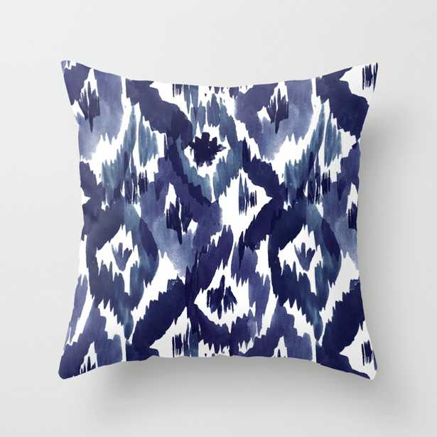"""Indigo Blue Ikat Throw Pillow - Indoor Cover (18"""" x 18"""") with pillow insert by Crystalwalen - Society6"""