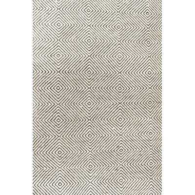 Marcelo Hand-Tufted Wool/Cotton Ivory Area Rug - AllModern