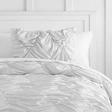 Whimsical Waves Comforter, Full/Queen, Light Gray - Pottery Barn Teen