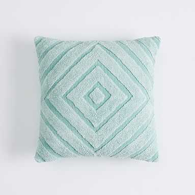Shaggy Chenille Pillow Cover , 18 x 18, Pale Seafoam - Pottery Barn Teen