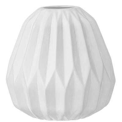 Small White Fluted Ceramic Vase - Wayfair