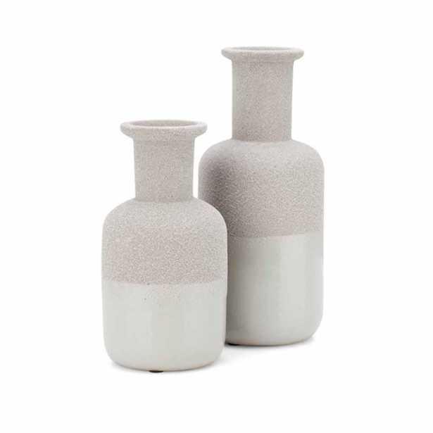 IMAX Beau Grey Vases (Set of 2) - Home Depot