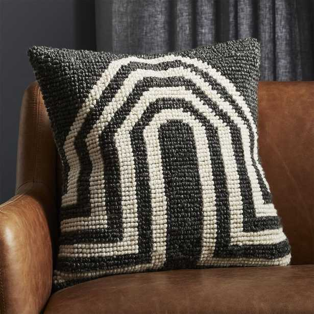 """""""20"""""""" Arch Grey Pillow with Feather-Down Insert"""" - CB2"""