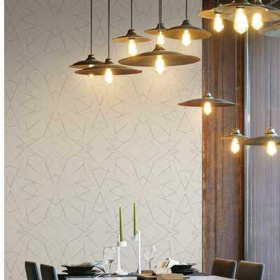 """Geo Diamond 33' L x 20.5"""" W Wallpaper Roll - AllModern"""