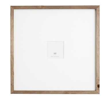 Wood Gallery Oversized Frame, 4x4 - Gray - Pottery Barn