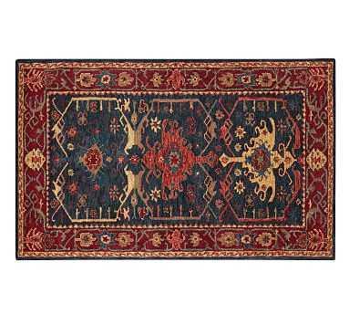 Channing Persian Rug, 5 x 8', Indigo - Pottery Barn