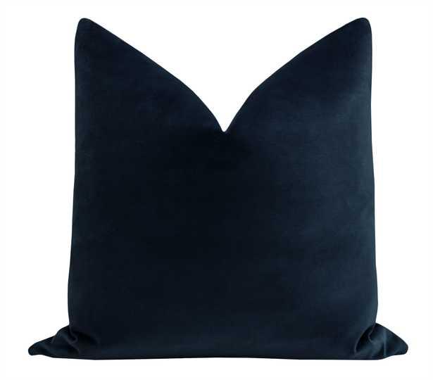 """Sonoma Velvet // Navy Blue - 20"""" X 20"""" - Little Design Company"""