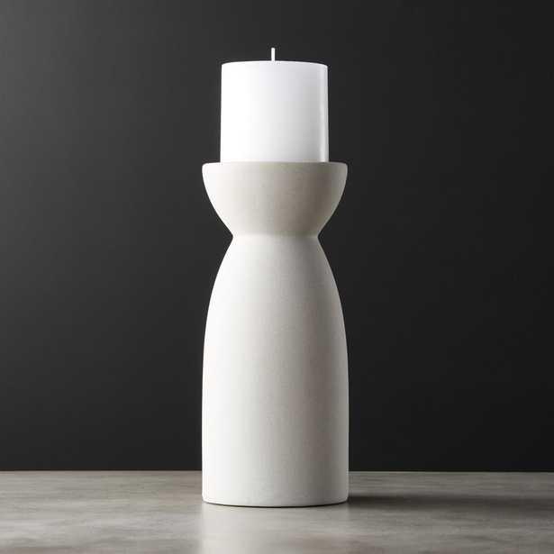 Borough Large Ceramic Pillar Candle Holder - CB2