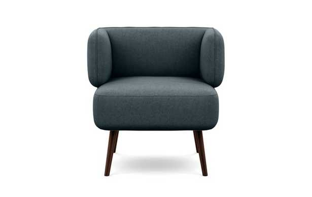 Parker Chairs with Slipper Chairs with Union Fabric and Oiled Walnut legs - Interior Define