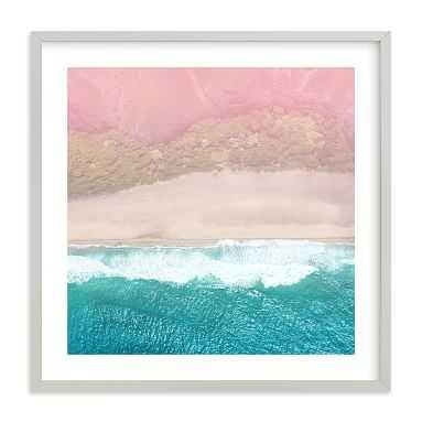 "Secret Beach Framed Art by Minted(R), 16""x16"", Gray - Pottery Barn Teen"