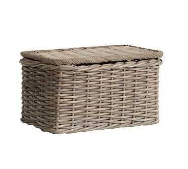 Aubrey Woven Large Lidded Basket - Pottery Barn