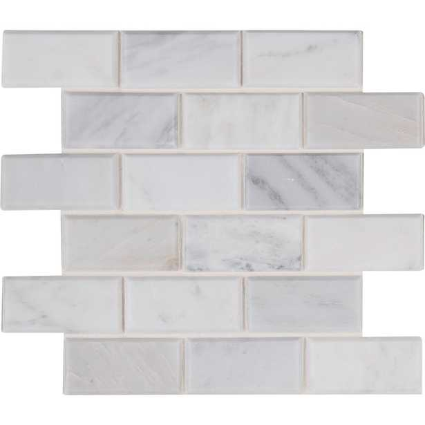 MSI Arabescato Carrara 12 in. x 12 in. x 20 mm Honed Marble Mesh-Mounted Mosaic Tile (10 sq. ft. / case), White - Home Depot
