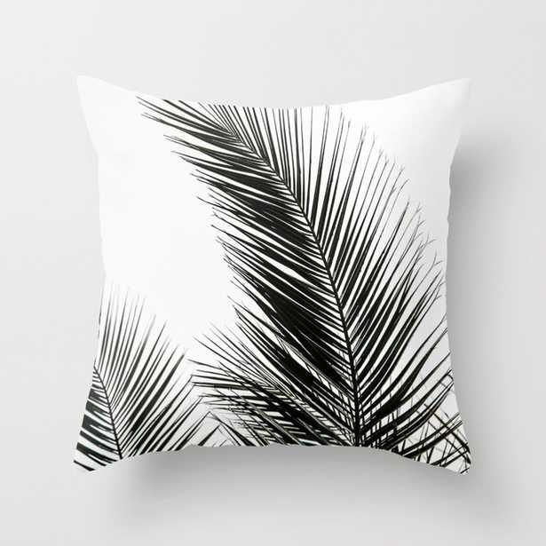 """Palm Leaves Throw Pillow - Indoor Cover (16"""" x 16"""") with pillow insert by Maboe - Society6"""