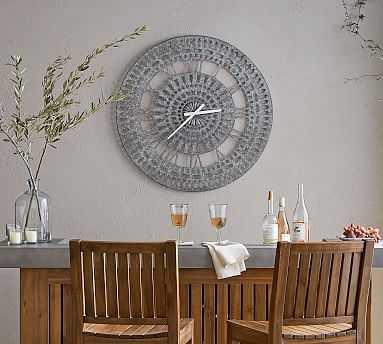 Mandala Outdoor Oversized Clock, Black - Pottery Barn