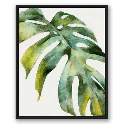 Palm Leaf Graphic Art Print on Canvas - Wayfair