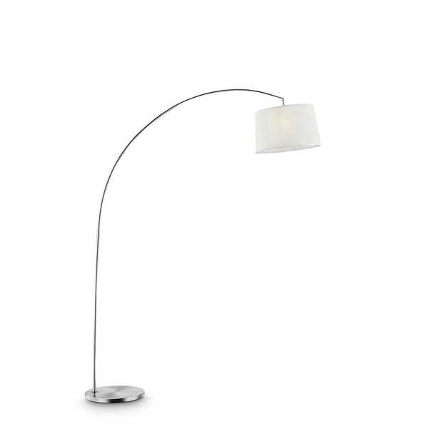 ORE International Oma 84.5 in. White Shade Silver Arch-Floor Lamp - Home Depot