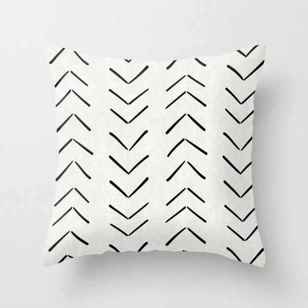 """Mud Cloth Big Arrows in Cream Throw Pillow - Indoor Cover (18"""" x 18"""") with pillow insert by Beckybailey1 - Society6"""