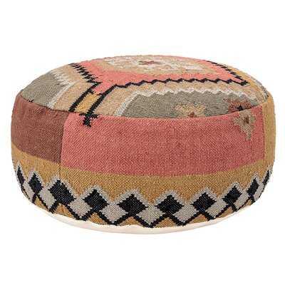 Melrose Handwoven Kilim Pouf - Wayfair