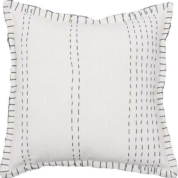 Blue Peyton Navy 20 in. x 20 in. Standard Throw Pillow - Home Depot